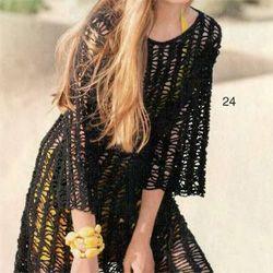 Чорна сукня гачком