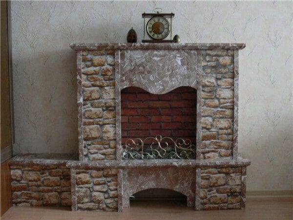 Декор фальш каміна