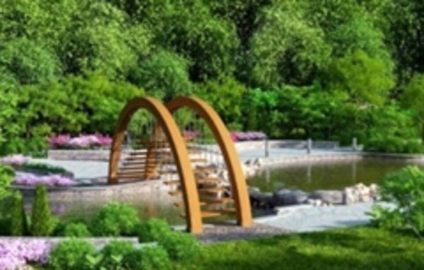 Мости в дизайні саду