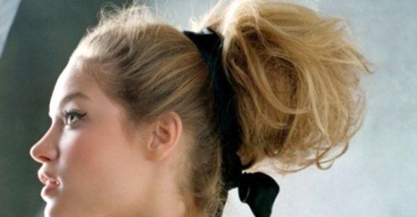 Недбалий пучок з волосся. У моді - вишукана недбалість