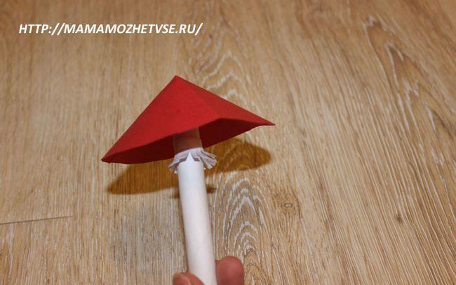 гриб мухомор виріб для дітей