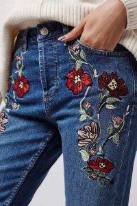 Прикрасити джинси вишивкою - схеми і техніка
