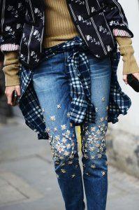 Вишивка на джинсах