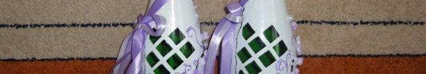 Варіанти прикраси весільних пляшок своїми руками